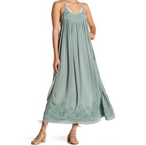 Intimately Free People Embroidered Maxi Slip Dress